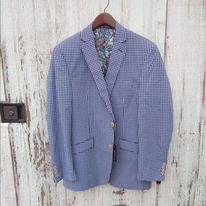 Van Heusen Studio Blazer - Blue Checkered